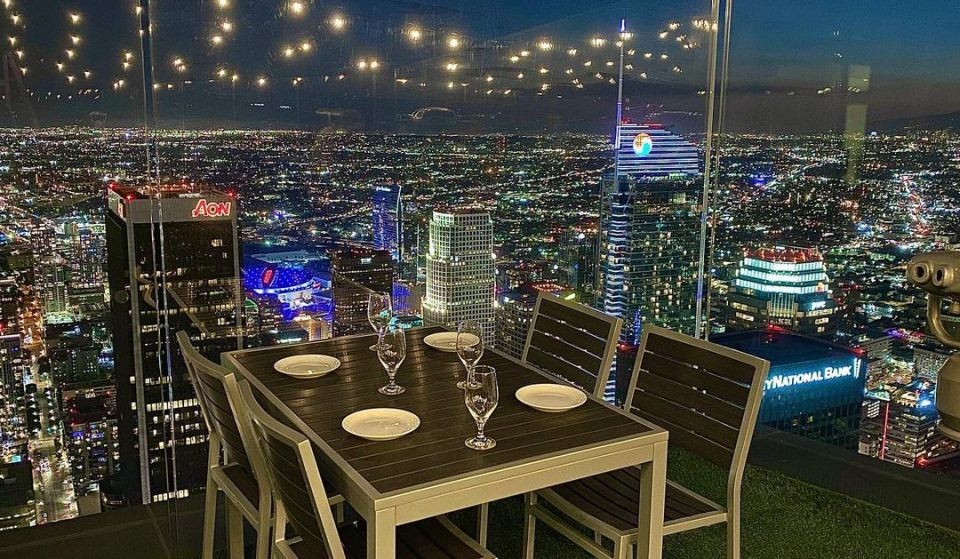 A Stunning New Outdoor Restaurant Has Opened On The 69th Floor Of The US Bank Tower