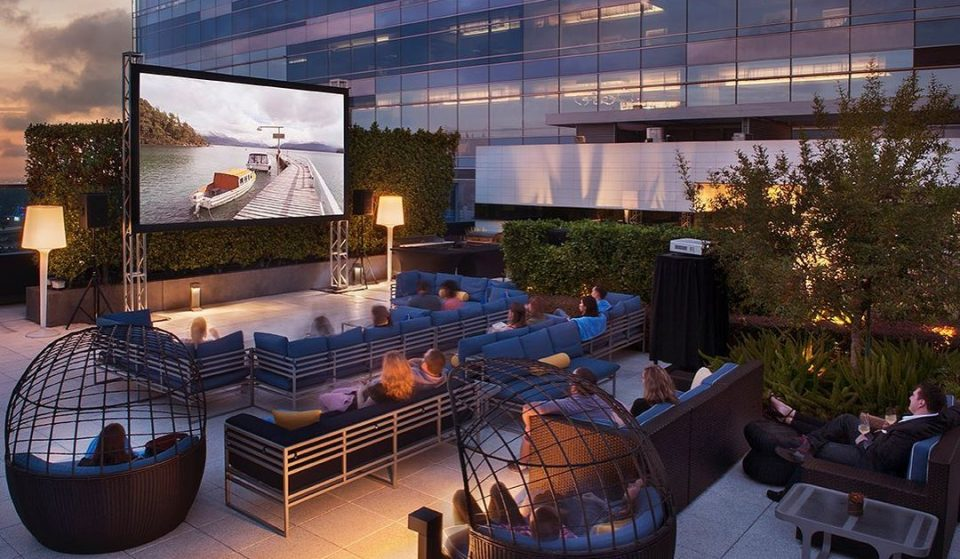 Indulge In A Romantic Poolside Dinner & Movie At JW Marriott's Rooftop