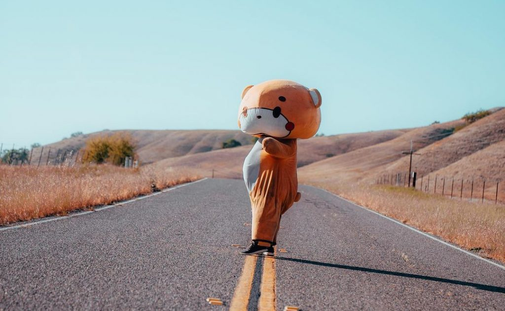 This Giant Teddy Bear Has Almost Completed His 400-Mile Walk From L.A. To San Francisco