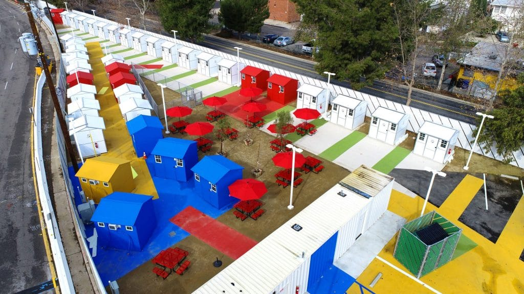 L.A.'s Second 'Tiny Home Village' Has Opened In North Hollywood