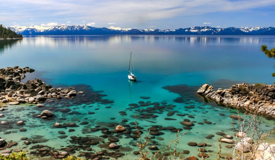 Glide Over Stunning Crystal Waters In A Transparent Kayak At Lake Tahoe