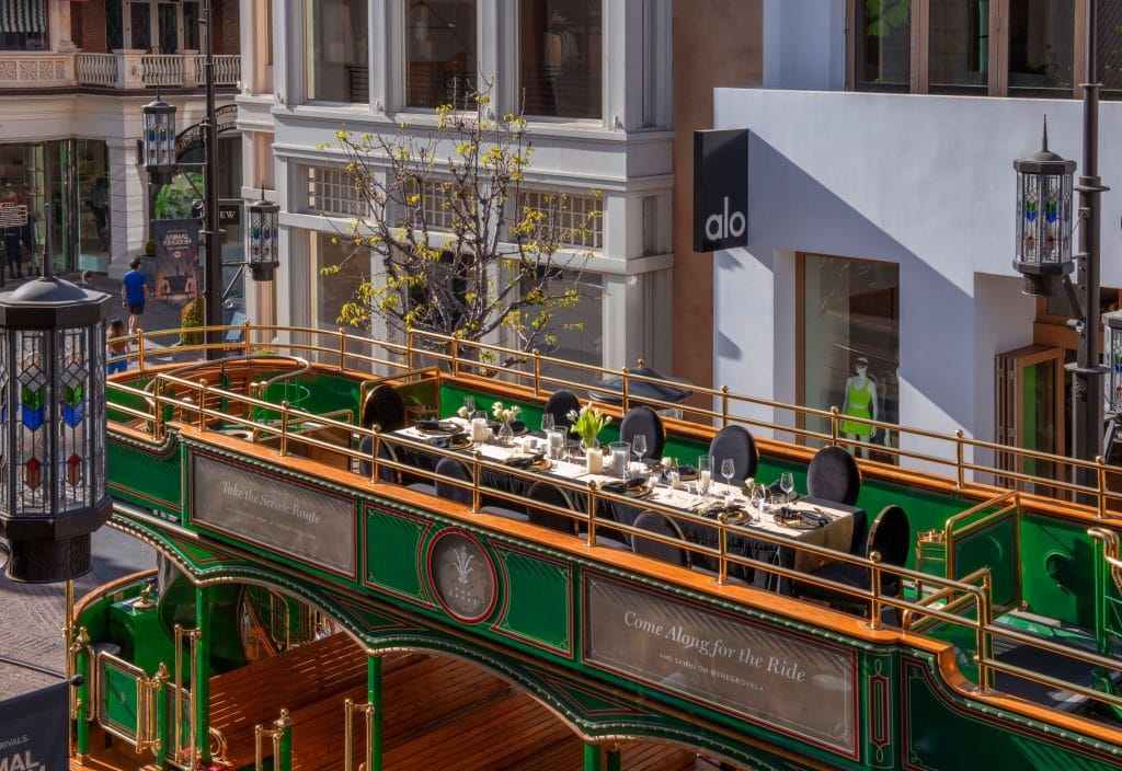 The Grove Has Just Debuted An Elegant Dining Experience Atop Its Iconic Trolley