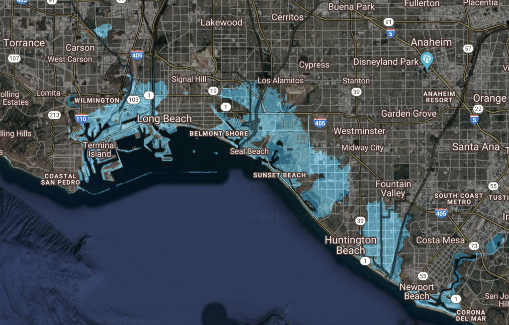 This Is What Los Angeles Would Look Like With A Rise In Sea Levels