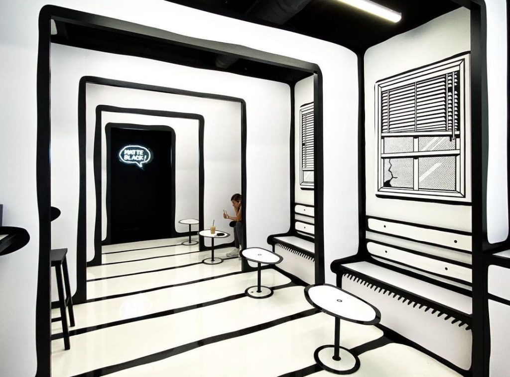 This New 2D-Styled Cafe In DTLA Is Like Stepping Into A Comic Book