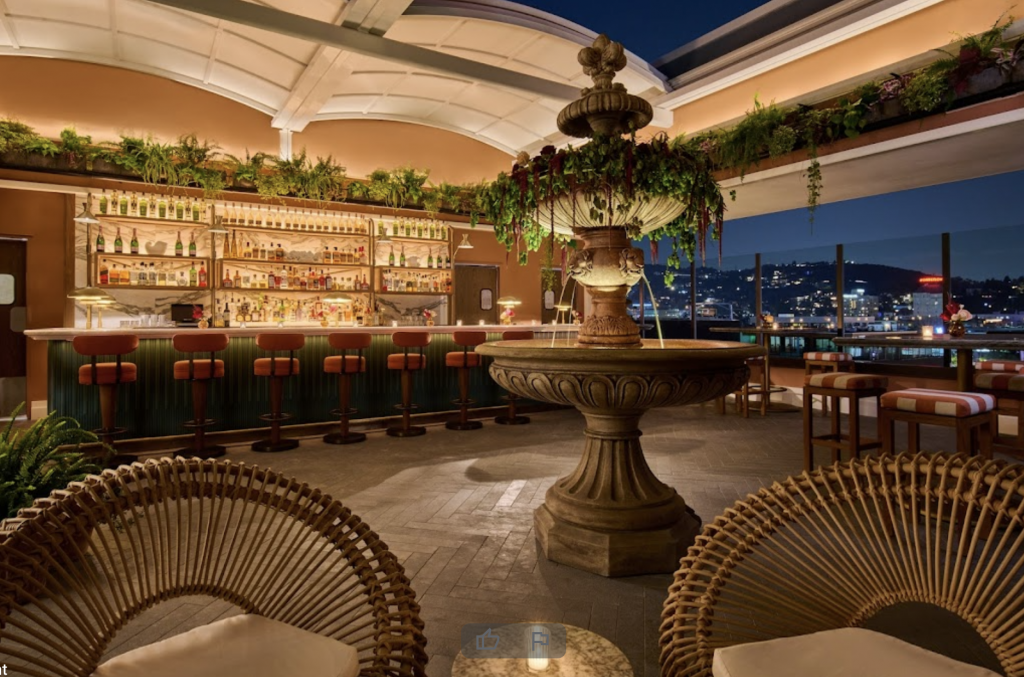 This New, Sky-High Hotspot Offers A Taste Of The French Riviera With 360° Views Of Hollywood