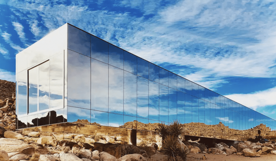 This Invisible House In Joshua Tree Has A 100-Foot Pool In The Middle Of It