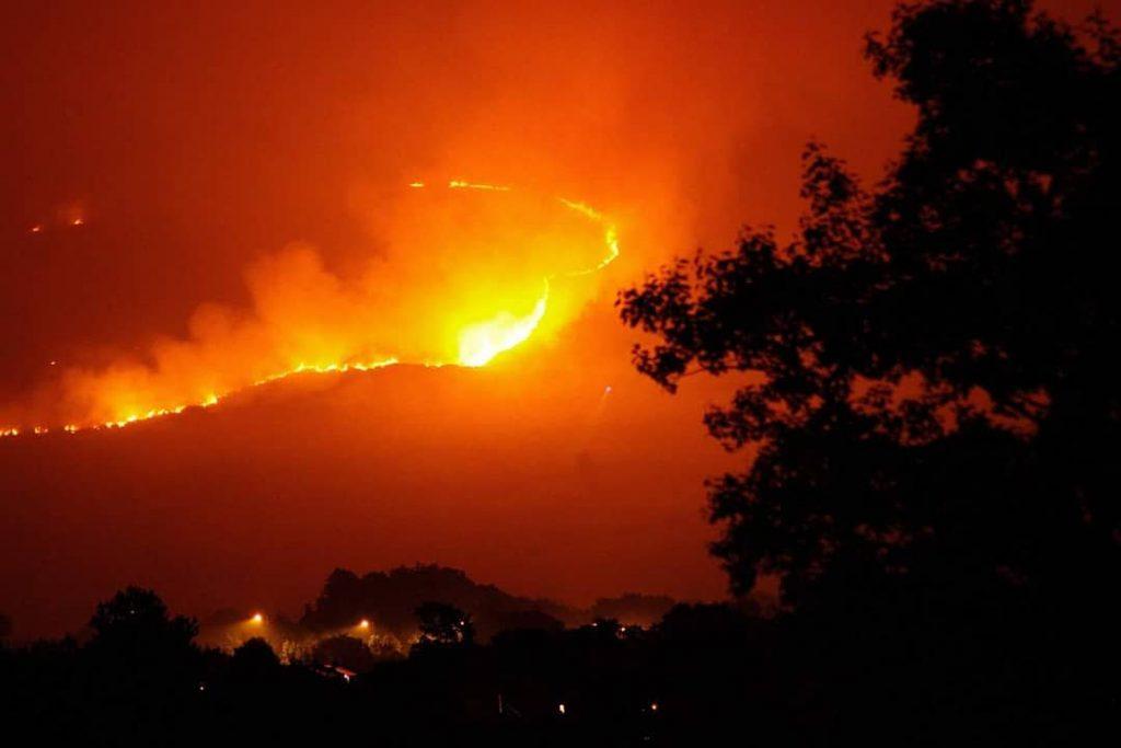 Fire Crews Are Still Battling A Huge Fire On Moorland Near Manchester