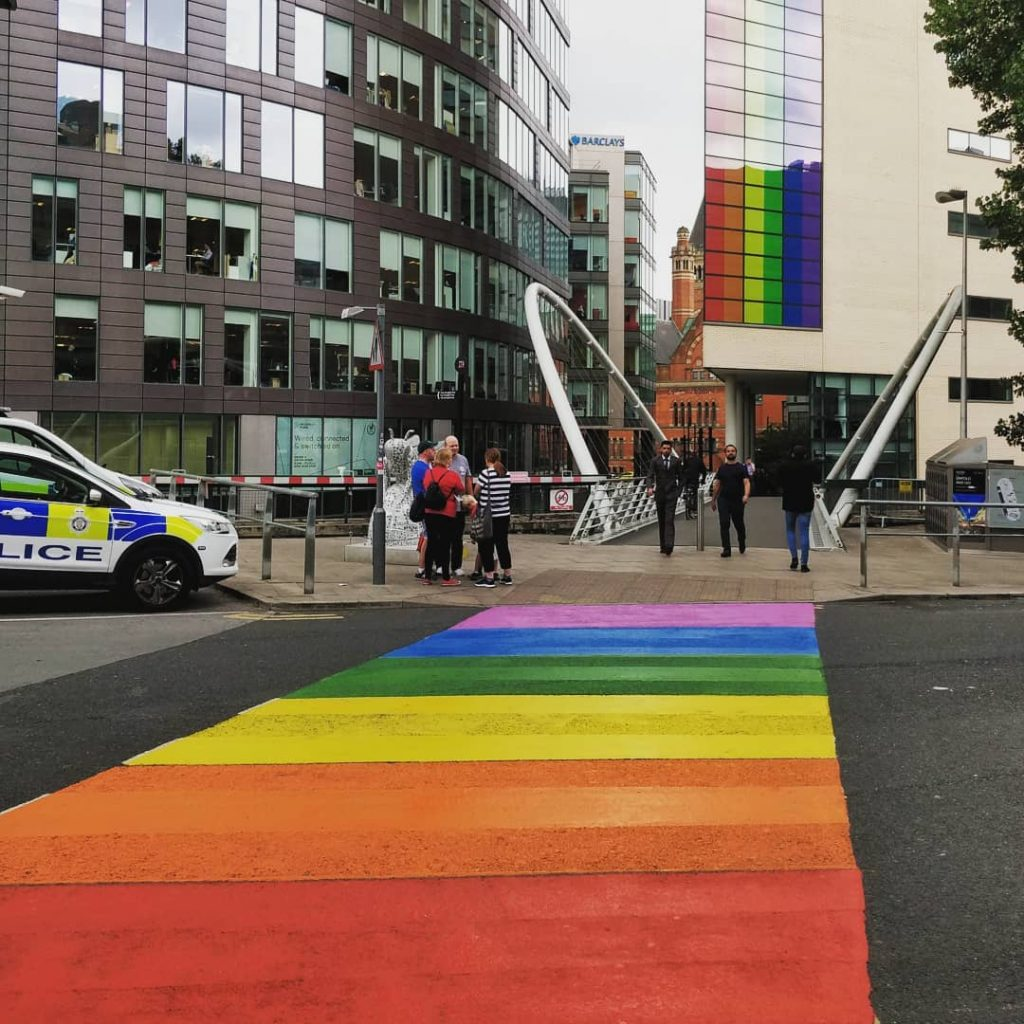 There's A Massive Rainbow Crossing Outside Piccadilly Station And It's Just Wonderful
