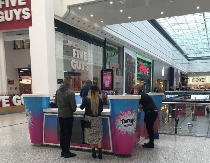 The World's First Tango Ice Blast Kiosk Has Opened In Manchester's Arndale Centre