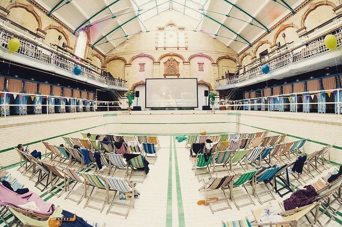 Manchester's Victoria Baths Is Inviting Brave Souls To Watch Jaws In Their Swimming Pool This Halloween