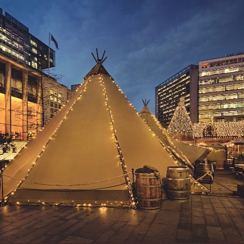 A Cosy Cinema Is Popping Up In A Magical Teepee In Manchester's Spinningfields