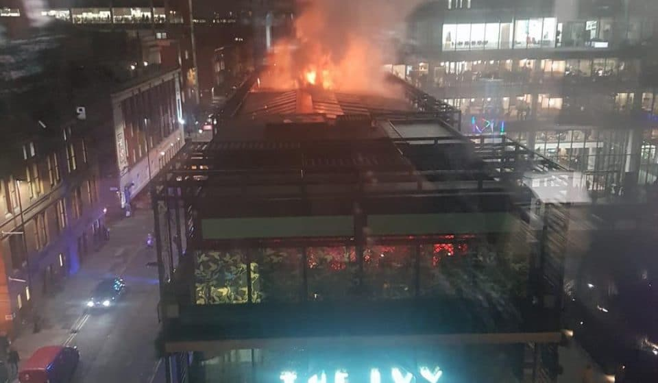 Fire At The Ivy In Manchester City Centre