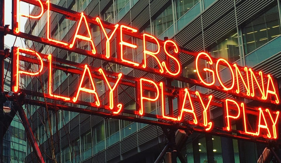 A Neon Art Installation Has Popped Up In Manchester's Spinningfields