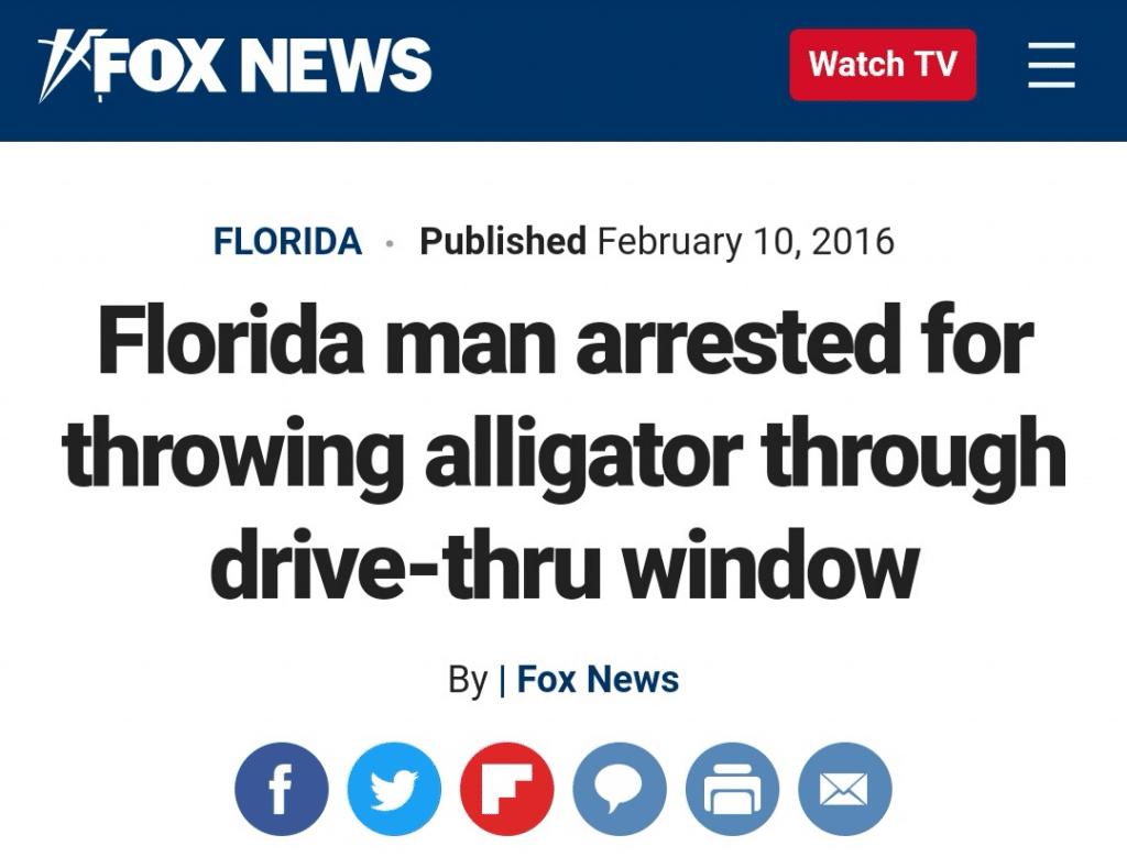The 'Florida Man Challenge' Has A Hilarious Result For Everyone