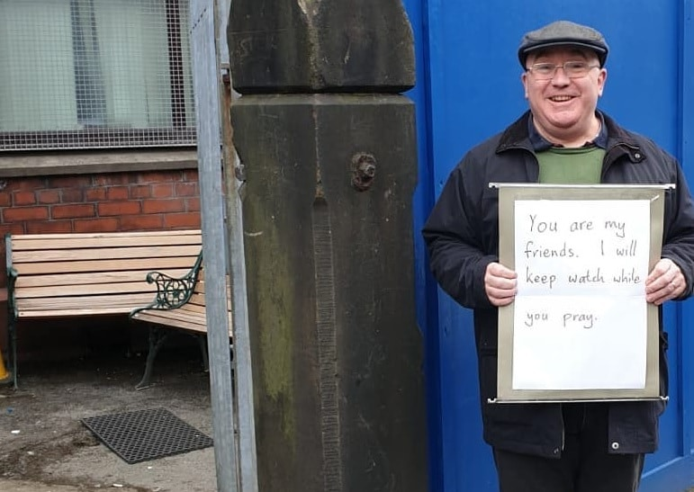 A Manchester Man Stood Outside A Mosque To 'Keep Watch' Following The New Zealand Shooting