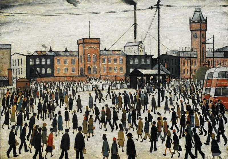 Iconic Lowry Painting 'Going To Work' Has Gone On Display At Imperial War Museum North