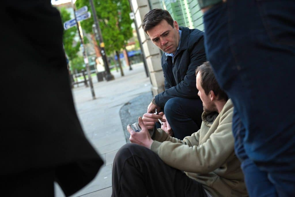 Andy Burnham Has Announced A New Plan To Help Manchester's Homeless