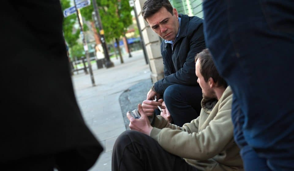 The Mayor Of Greater Manchester Has Challenged Party Leaders To Tackle Homelessness