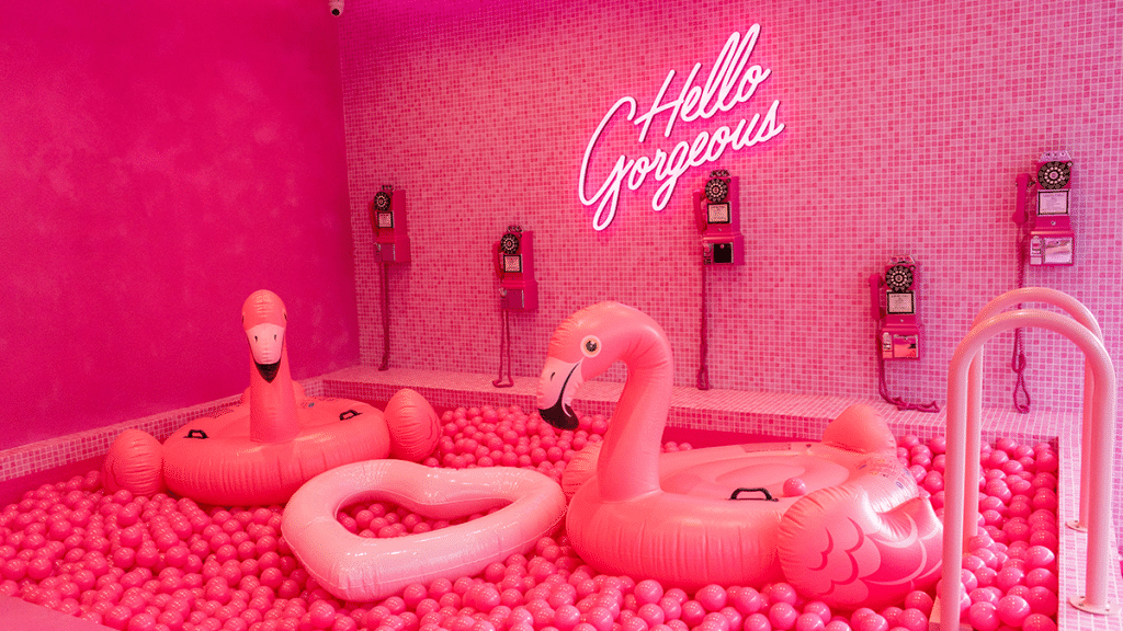 This Burger Wonderland Is Completely Adorned In Pink And Has Its Own Ball Pit