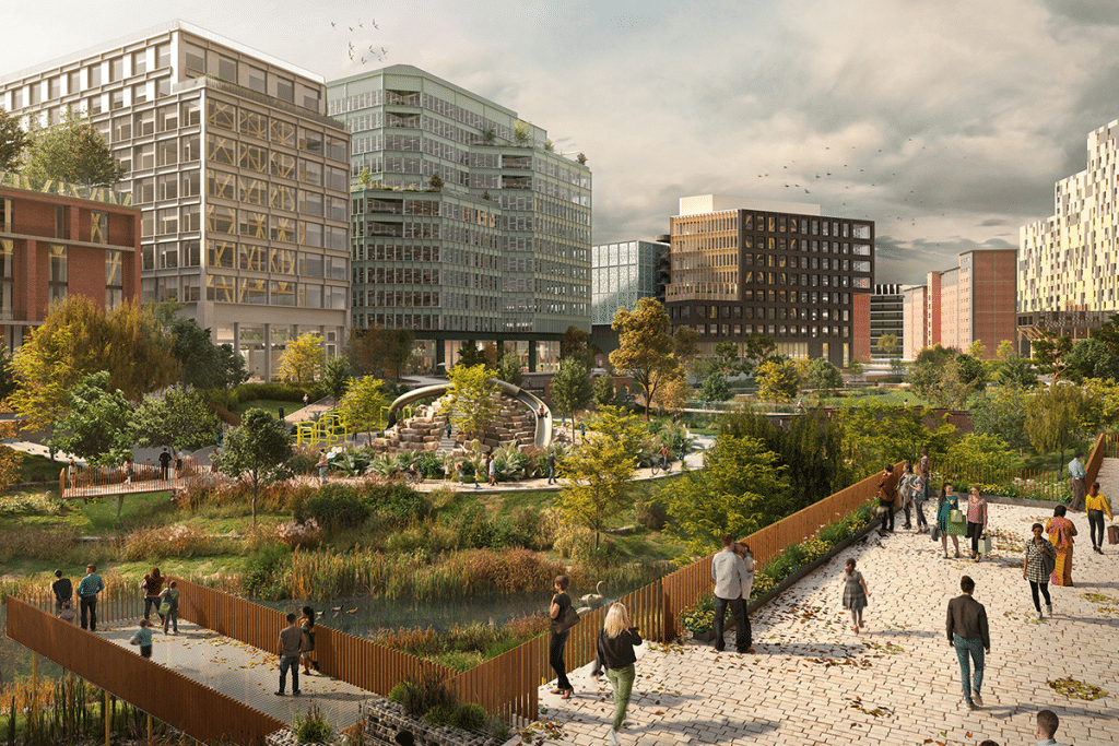 New Images Have Been Released Of Manchester City Centre's First New Park In Over 100 Years
