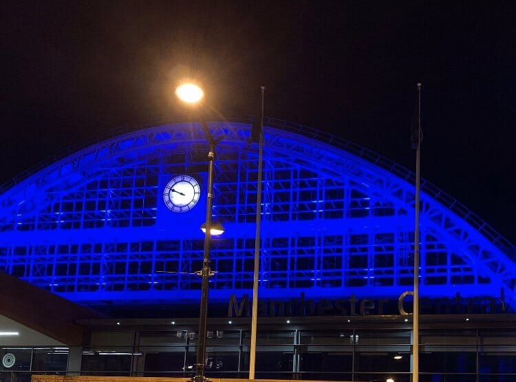 Manchester Will Light Up Blue Tomorrow Night To Thank NHS Staff