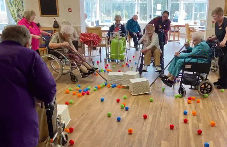 Watch As Elderly Residents Of A Welsh Care Home Enjoy An Intense Game Of Hungry Hippos
