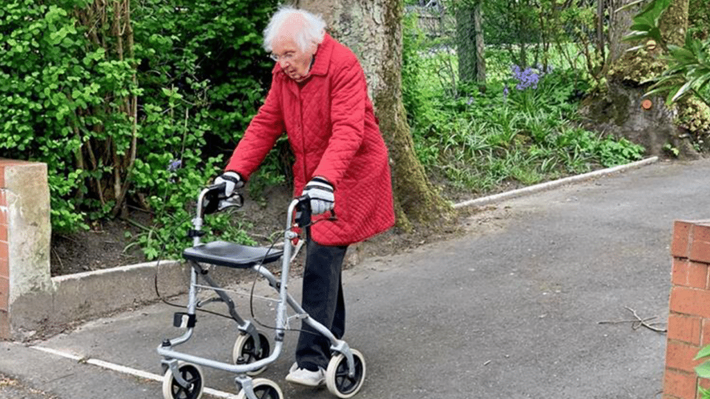 This 99-Year-Old Lady From Middleton Has Raised £15K Walking 100 Lengths For The NHS