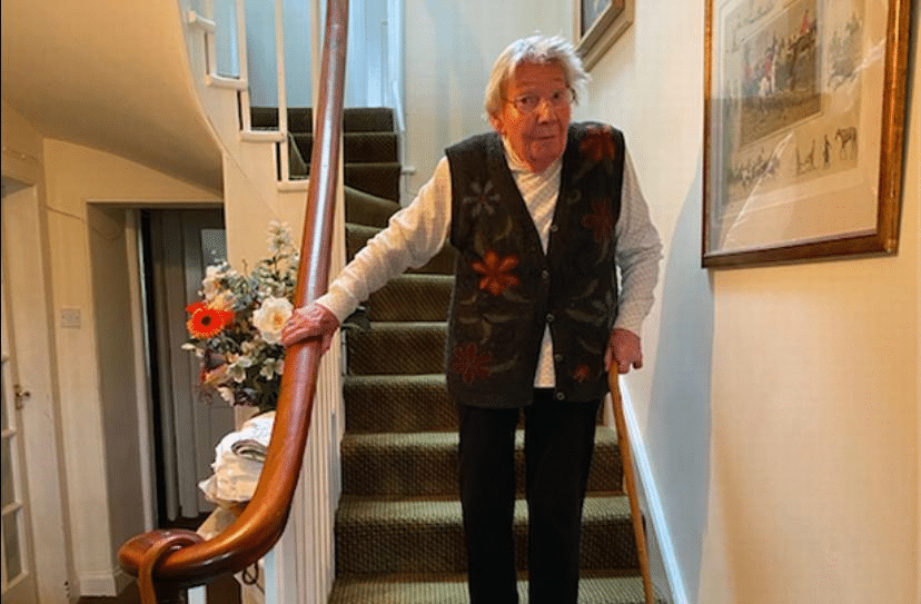 A Heroic 90-Year-Old Woman 'Climbing A Mountain' On Her Stairs Has Raised Over £200k For The NHS