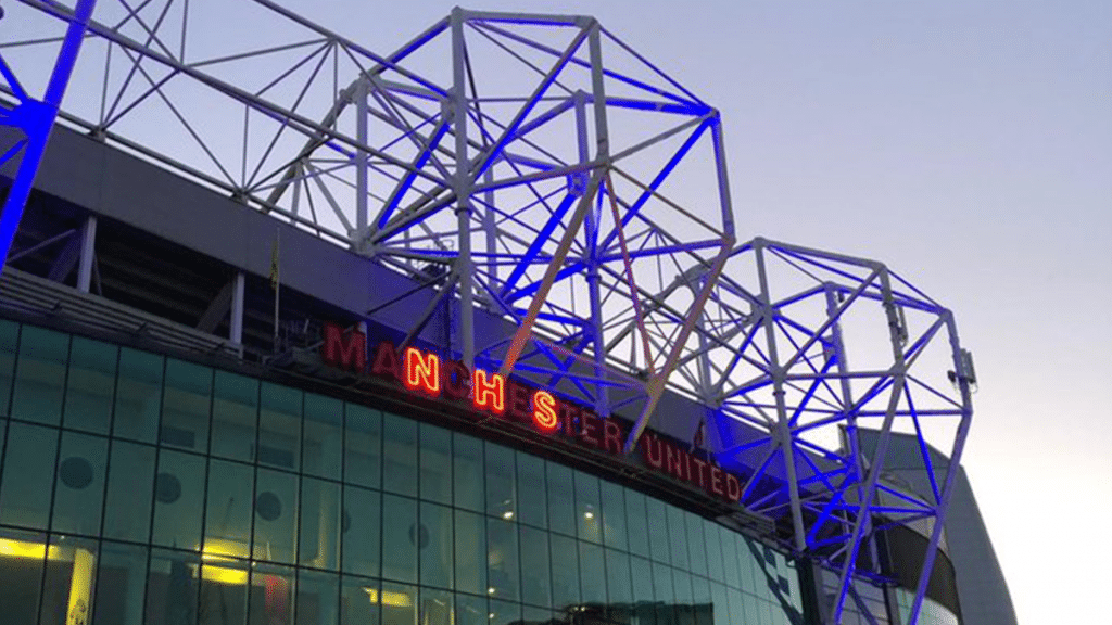 Old Trafford Will Light Up Blue Tonight In Support Of The NHS
