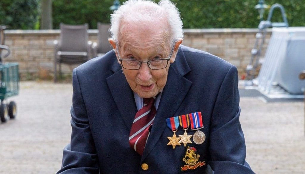 99-Year-Old WWII Veteran Raises £7M For The NHS Walking Laps Around His Back Garden
