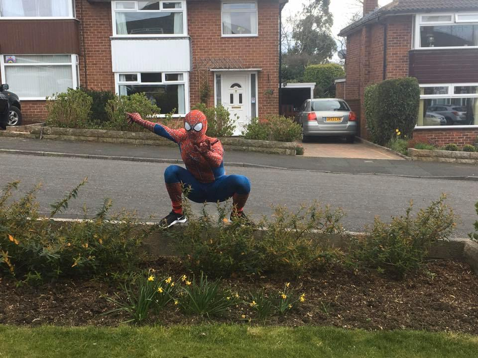 Stockport's Very Own Spider-Man Is Cheering Families Up During Lockdown