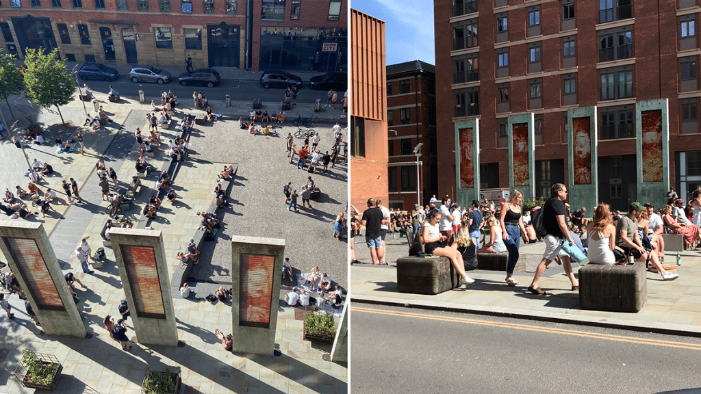 Large Groups Of People Meet To Drink In Ancoats, Completely Ignoring Social Distancing