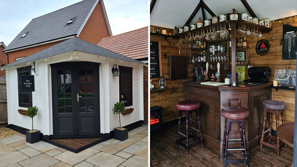 Greater Manchester Family Create A Proper Pub Of Their Own In The Back Garden