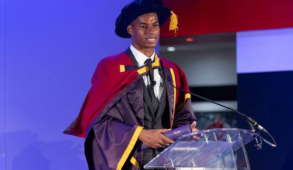 Last Night Marcus Rashford Received An Honorary Degree From The University of Manchester