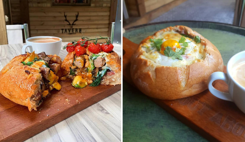 You Can Have A Full English In A Giant Sourdough Loaf At This Manchester Pub · Bread and Bowl