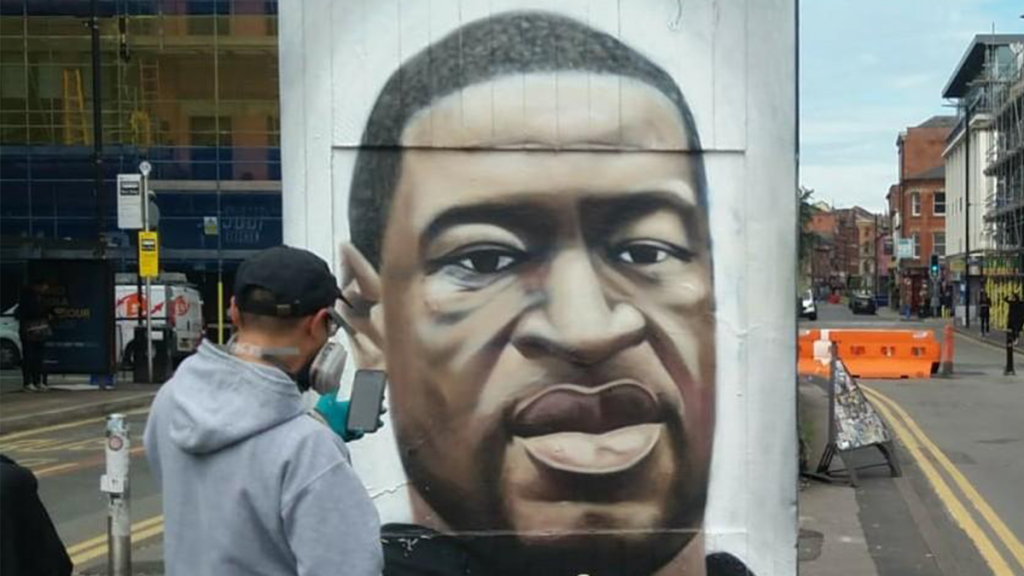 Northern Quarter's George Floyd Mural Has Been Restored After Being Defaced With A Racial Slur