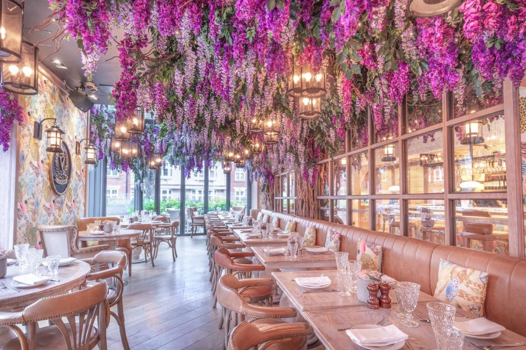 The Wonderful Wisteria-Covered Restaurant Nestled In Cheshire • Victors