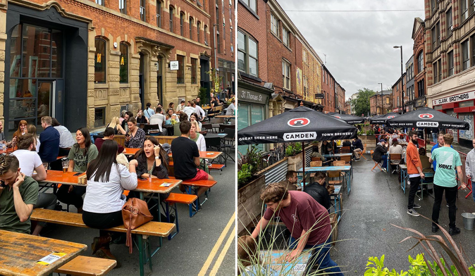 Smoking Officially Banned From Manchester's New Alfresco Drinking And Dining Spaces