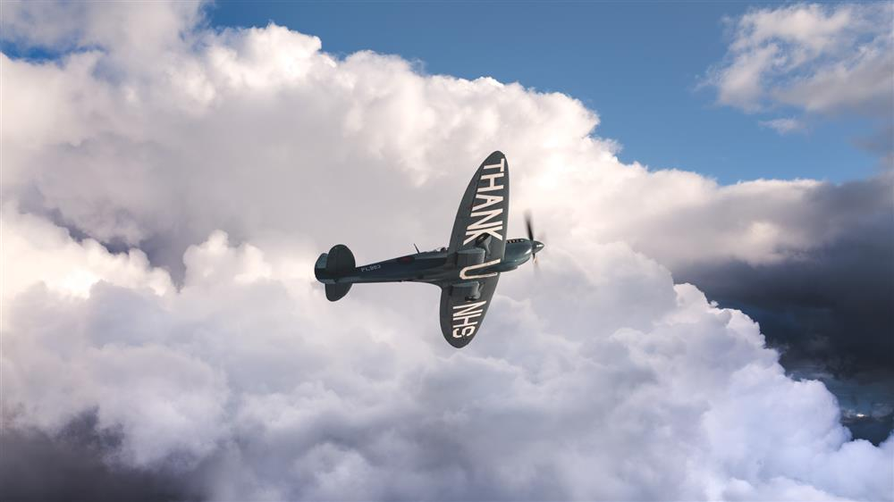 Spitfire Soars Over Greater Manchester To Raise Funds For NHS Workers