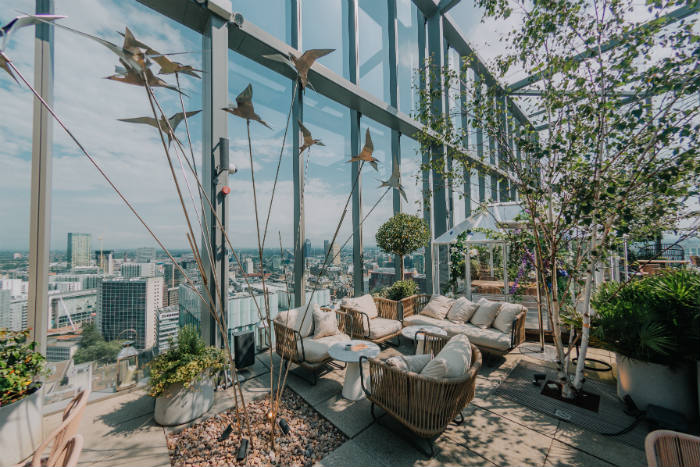 20 Stories Has Launched A Beautiful Garden-Themed Summer Terrace