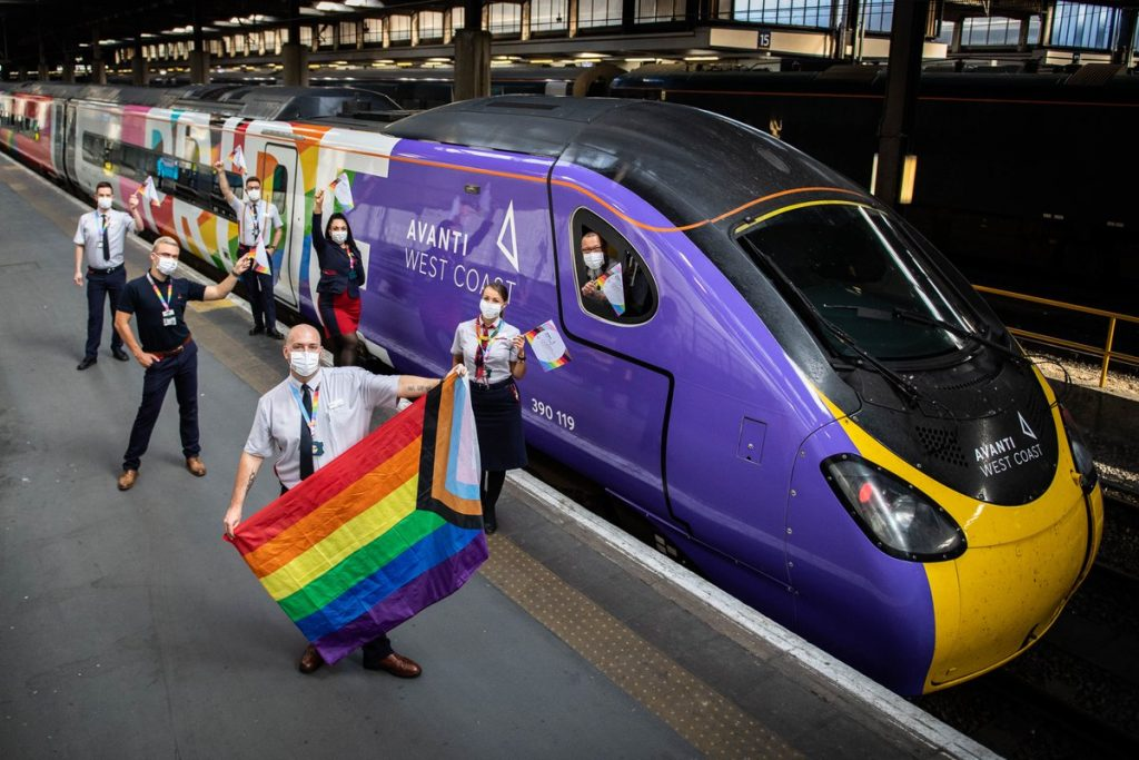 The UK's First Pride Train Staffed Entirely By LGBTQ+ Crew Arrived In Manchester Today