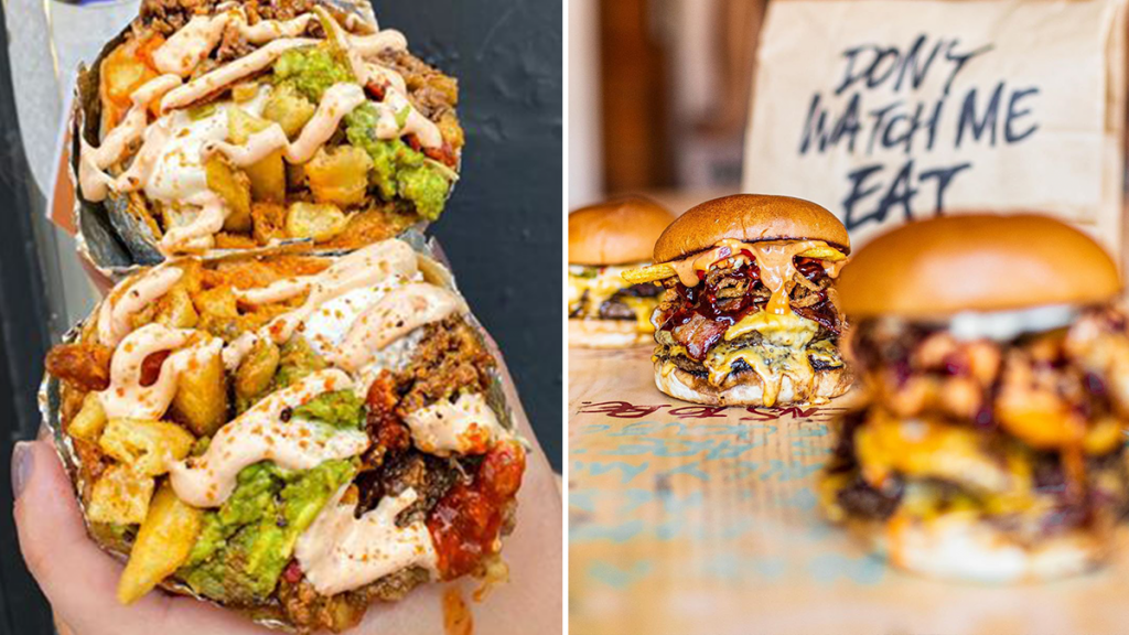 Almost Famous Has Teamed Up With Liquor & Burn On The Ultimate Burrito-Burger Hybrid