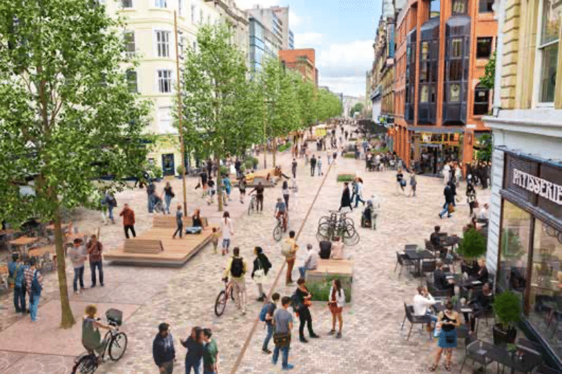 New Images Show What The Pedestrianised Deansgate Could Look Like In The Future