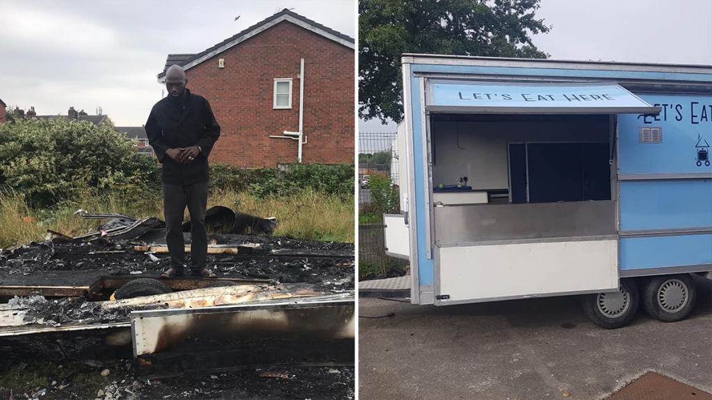 Local Chef Raises Over £77,000 After Racists Burn Down His Food Truck
