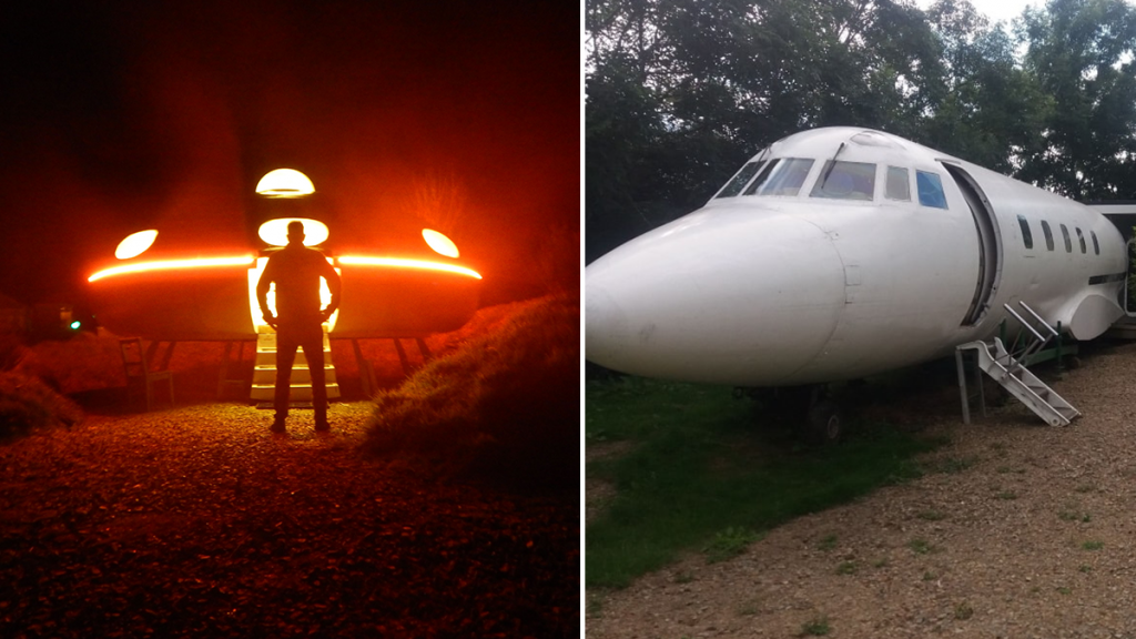 Stay In A Converted Plane Or Your Own Flying Saucer At This Unique Campsite In Wales