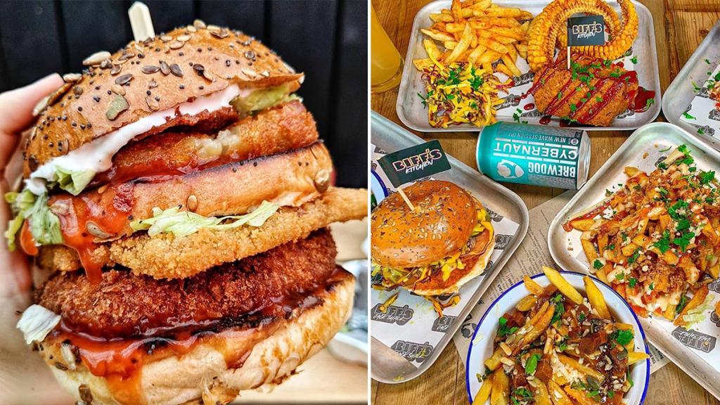 The Vegan Junk Food Spot Serving Up Jacked Burgers & Juicy Wings · Biff's