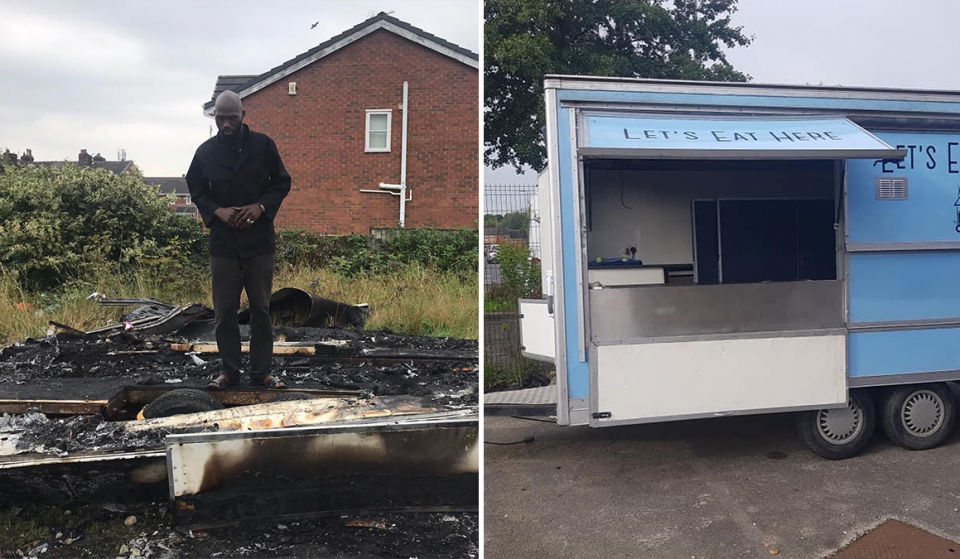 Local Chef Raises Over £20,000 After Racists Burn Down His Food Truck