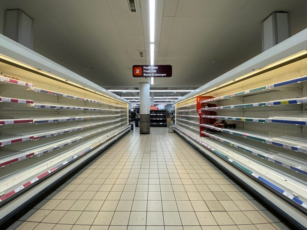 Supermarkets bring in rationing as panic-buying returns