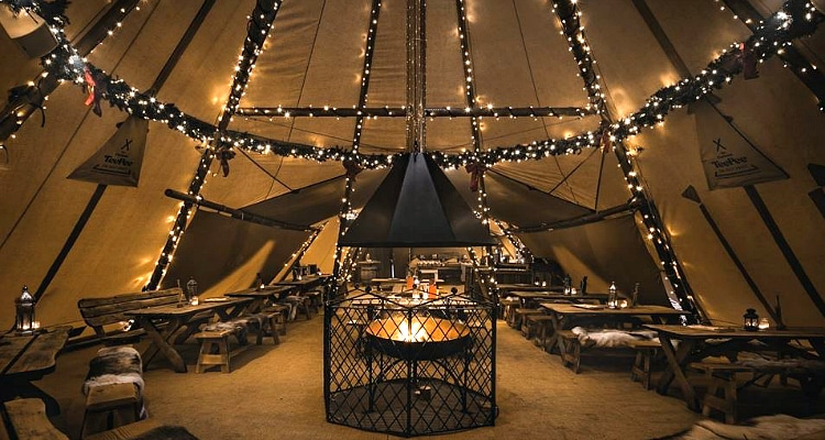 The Oast House's Christmas Teepee Is Back This Month With A Fabulous Bottomless Drag Brunch