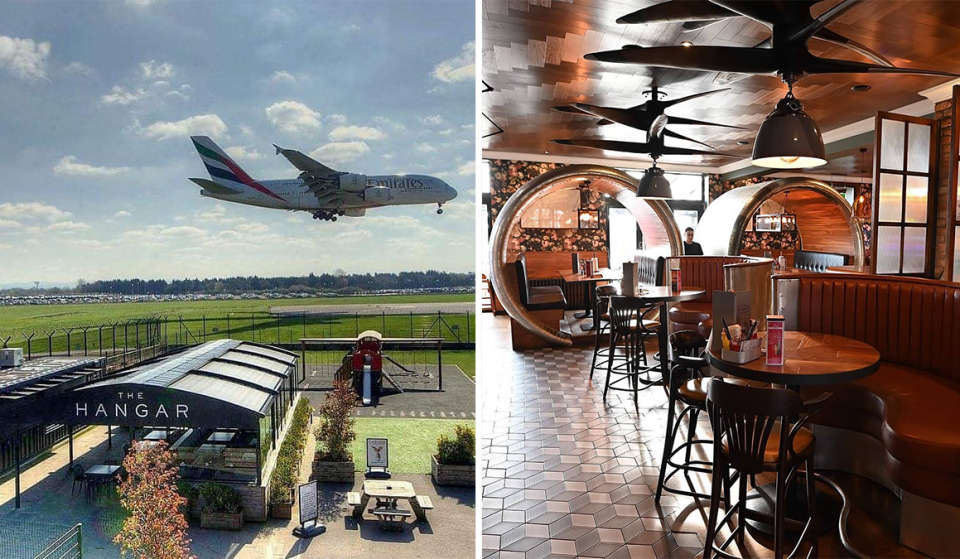 The Manchester Pub With A Beer Garden Right Next To The Airport Runway
